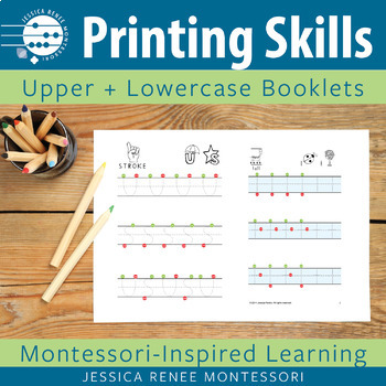 Printing Skills Booklets Capital and Lowercase Letters (Ea