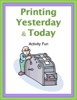 Printing Yesterday and Today Activity Fun