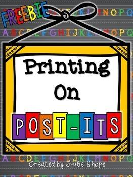 Printing on Post-Its {FREEBIE}