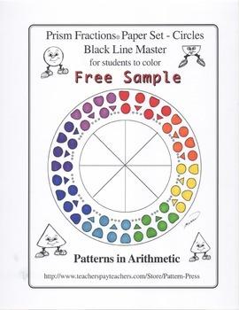 Prism Fractions® Paper Set - Circles - Black Line Master