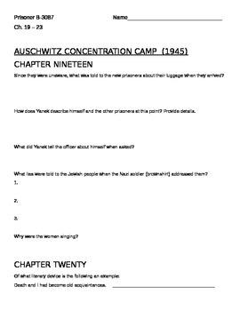 Prisoner B-3087 Chapters 19-23