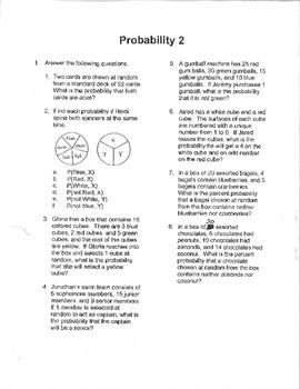 Algebra: Probability 2.