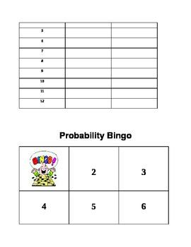 Probability Bingo!