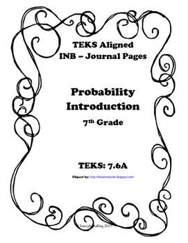 Probability Introduction INB TEKS 7.6A