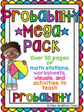 Probability MEGA Pack of Math Stations Worksheets and Activities
