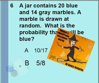 Probability Odds Word Problems Applications Smartboard Lesson