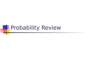 Probability Review Clicker Game