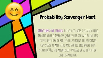 Probability Scavenger Hunt (with Emojis!)