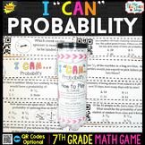 7th Grade Probability Game - 7th Grade Math Game