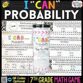 Probability Seventh Grade Math Game