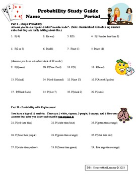 Probability Study Guide