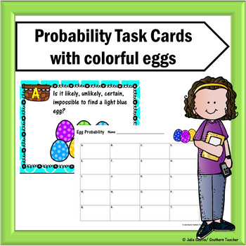 Probability Task Cards with Easter Themed