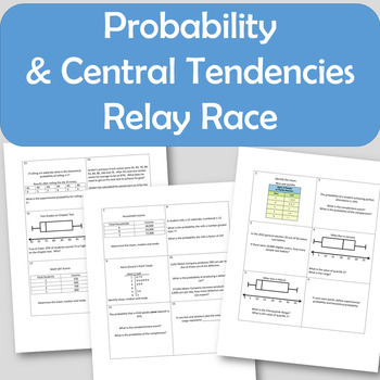 Probability and Central Tendencies Relay Race Review
