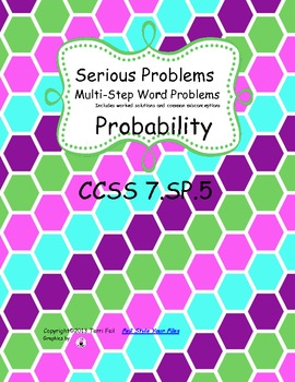 Probability of chance event word problems fractions percen