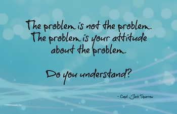 Problem Attitude 11 x 17 Poster Classroom Management PBIS