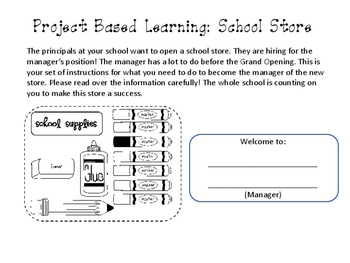 Problem Based Learning: School Store (Decimals and Fractions)