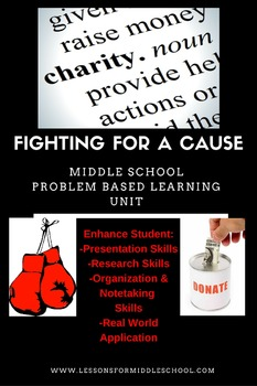 Problem Based Learning Unit - (Middle School) Charity Search