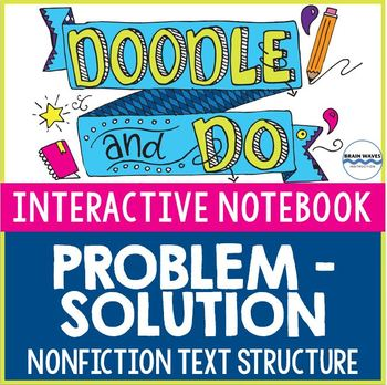 Problem-Solution Nonfiction Text Structure - Doodle Notes