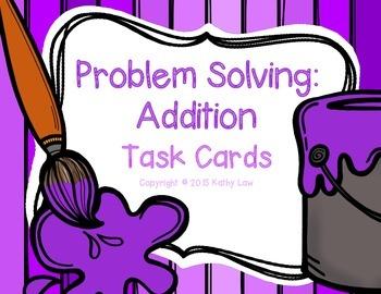 Problem Solving: Addition Task Cards