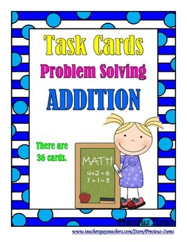 Problem Solving:  Addition Word Problems - Task Cards