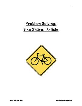 Problem Solving:  Bike Share Problem Packet