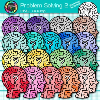 Problem Solving Clip Art 2 - Critical Thinking Skills - Gr