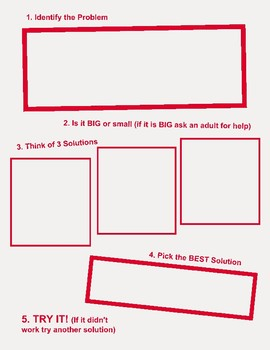 Problem Solving Graphic Organizer