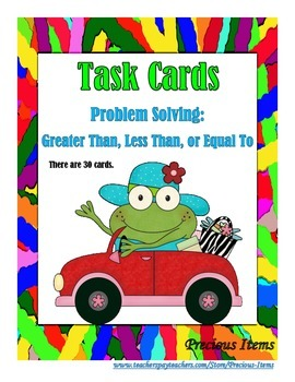 Problem Solving:  Greater Than, Less Than, or Equal To - T