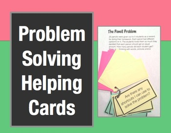 Problem Solving Helping Cards: Question Cards to Help and