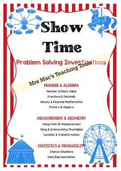 Design - Problem Solving - Show Bags - Maths - Carnival -