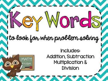 Problem Solving Key Words