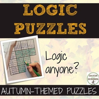 Logic Puzzles for Autumn including Halloween and Thanksgiv