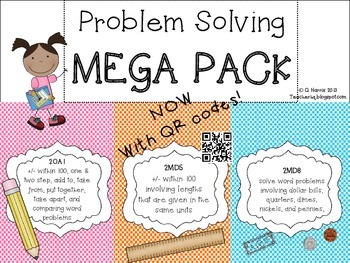 Problem Solving MEGA PACK with QR CODES (addition/subtract
