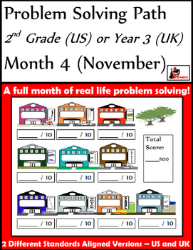 November Problem Solving Path: Real Life Word Problems for