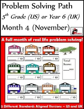 November Problem Solving Path - 5th Grade/ Year 6