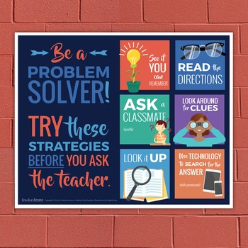Problem Solving Poster: Six Strategies to Try before Askin