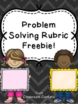 Problem Solving Rubric Freebie