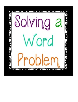 Problem Solving Steps & Strategies