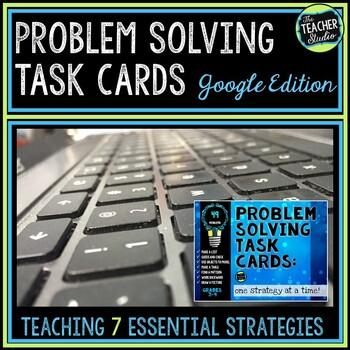 Problem Solving Task Cards: 7 Strategies for Grades 3-4 GO
