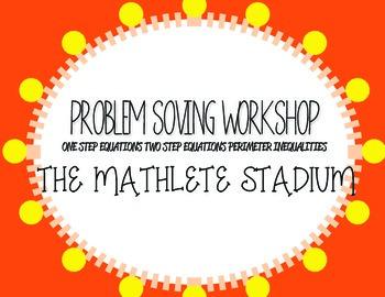 Problem Solving Workshop: Equations Word Problem Graphic O
