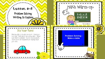 Problem Solving:  Writing to Explain - Envisions 4-5