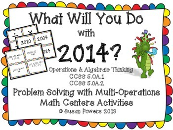 Problem  Solving and Algebraic Thinking Centers Activities