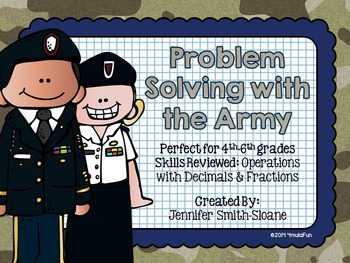Problem Solving with the Army Task Cards (Color and Save Y