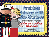 Problem Solving with the Marines Task Cards (Color and Sav