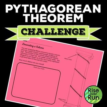 Free! Pythagorean Theorem Problem Solving, Ribbon Around a Column