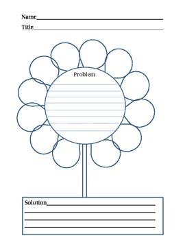 Problem and Solution Springtime or Summer Flower Graphic O