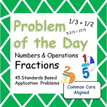 Problem of the Day (Fractions) Word Problems for the Middl