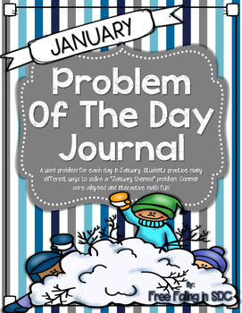 Problem of the Day-JANUARY (daily math word problem practice)