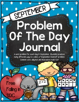 Problem of the Day-SEPTEMBER (daily word problem practice)