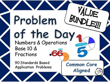 Problem of the Day Value Bundle Word Problems for the Midd